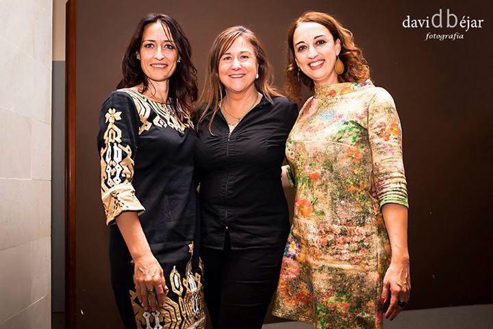 Rosa Jové con Carolina Cerro y Nohemí Hervada