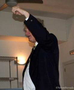 Nils Bergman recordando el ejemplo de la plomada que usó Jill Bergman el día anterior