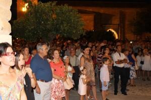 Plaza de Santa María durante la procesión